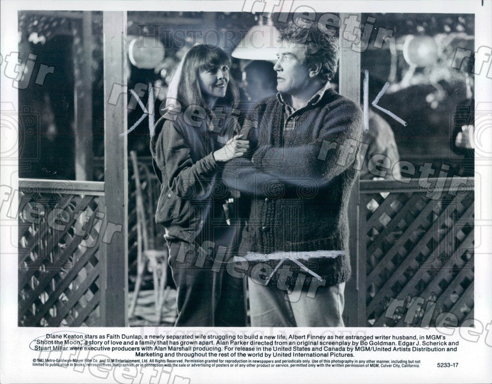 1981 Actors Diane Keaton & Albert Finney in Shoot The Moon Press Photo adv437 - Historic Images