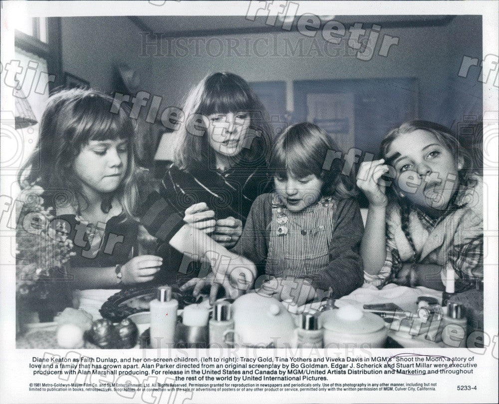 1981 Actors Diane Keaton, Tracy Gold, Tina Yothers Press Photo adv439 - Historic Images