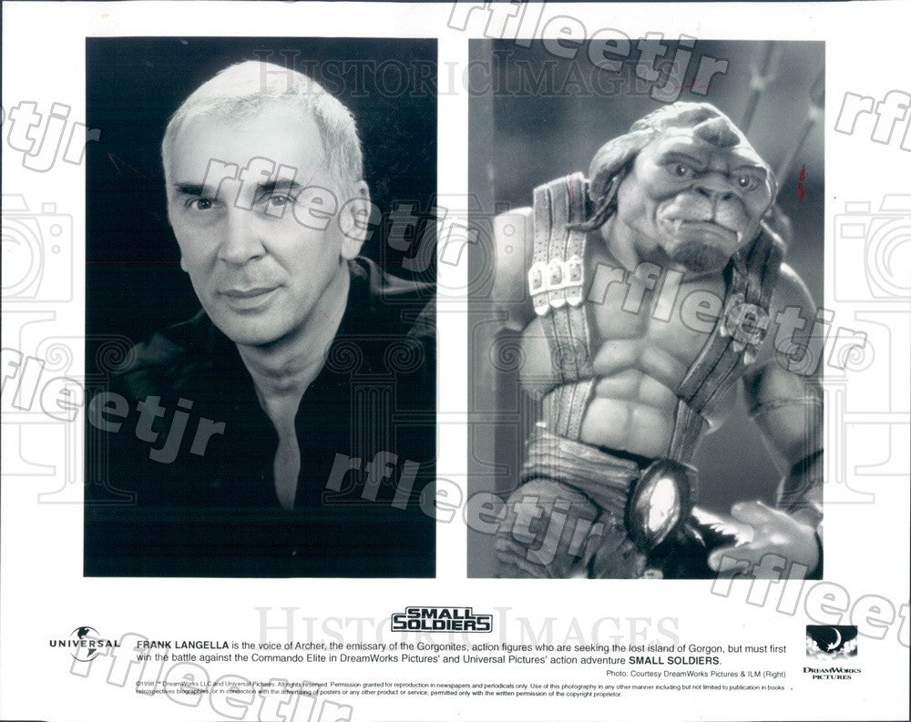 1998 Actor Frank Langella in Film Small Soldiers Press Photo adv445 - Historic Images