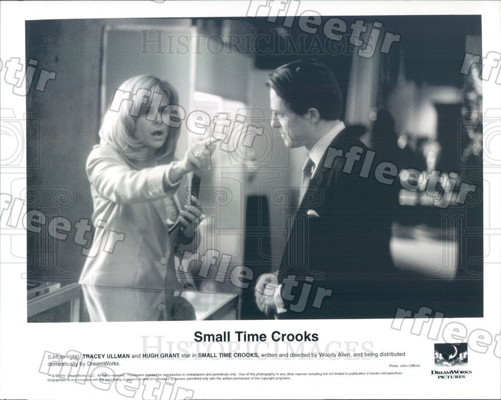 1999 Emmy Winning Actor Tracey Ullman & Hugh Grant Press Photo adv447 - Historic Images