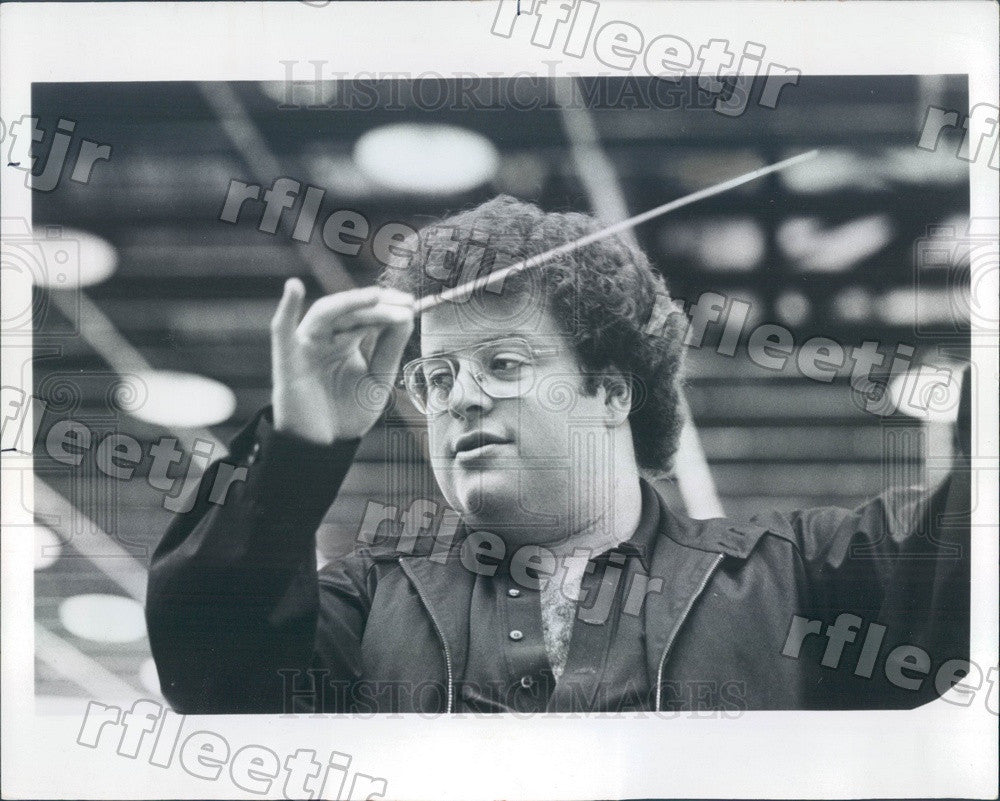 1977 Metropolitan Opera Conductor James Levine Press Photo adv45 - Historic Images