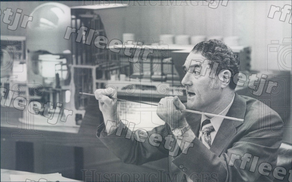 1972 Milton Shaw, US Atomic Energy Commission Press Photo adv467 - Historic Images