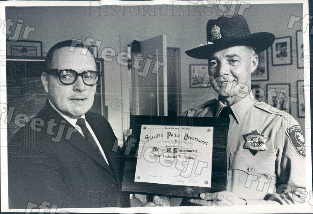 1965 Chicago, Illinois Sheriff Richard Ogilvie Press Photo adv469 - Historic Images