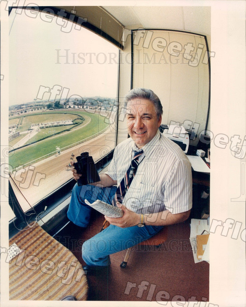 Undated Chicago Racetrack Announcer Phil Georgeff Press Photo adv483 - Historic Images