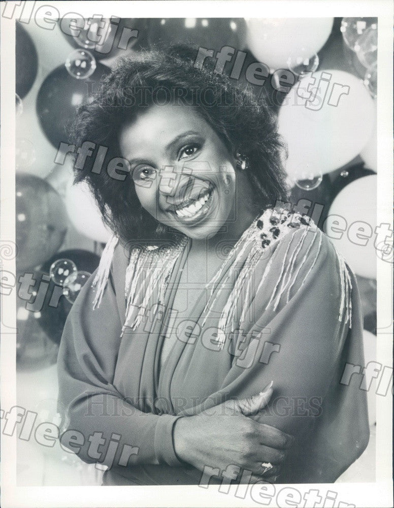 1986 Grammy Winning Soul Singer Gladys Knight Press Photo adv491 - Historic Images