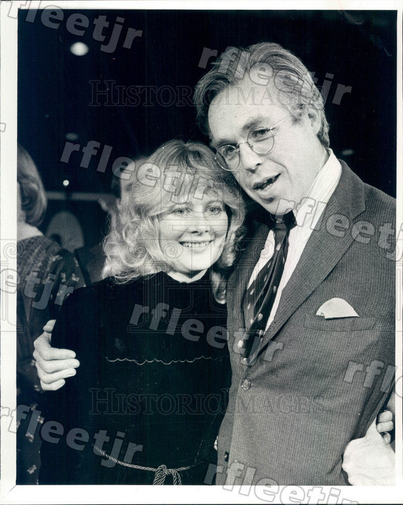 1977 Emmy Winning Actor Shirley Knight & John Guare Press Photo adv501 - Historic Images