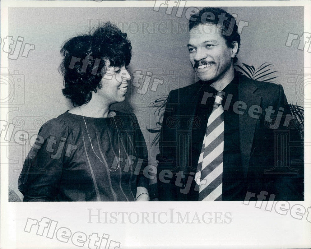 1984 Actor Billy Dee Williams & Ronne Hartfield, Chicago Press Photo adv515 - Historic Images