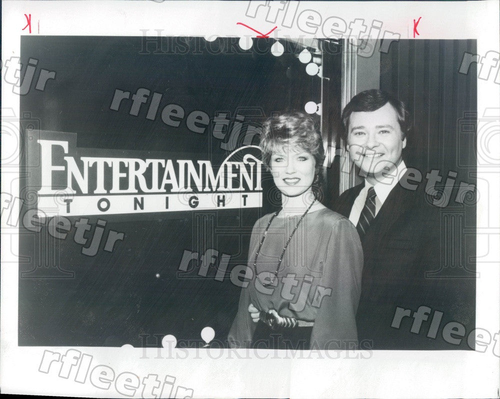 1983 Entertainment Tonight Hosts Mary Hart & Ron Hendren Press Photo adv517 - Historic Images