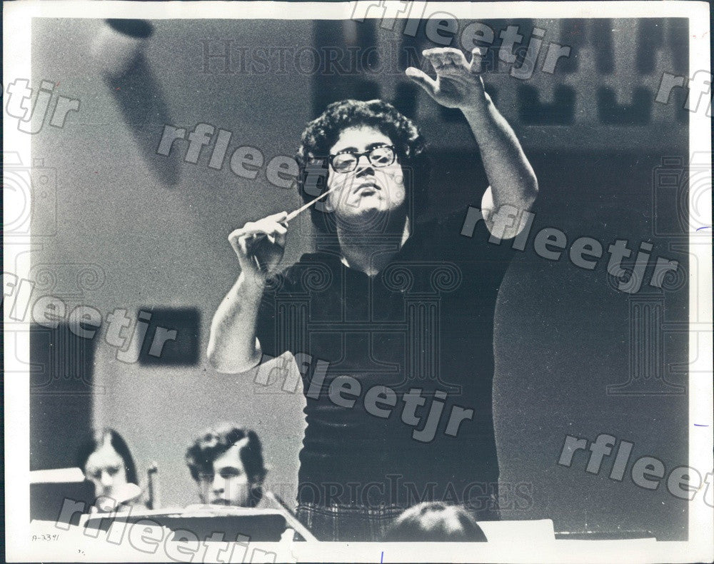 1974 Metropolitan Opera Conductor James Levine Press Photo adv53 - Historic Images