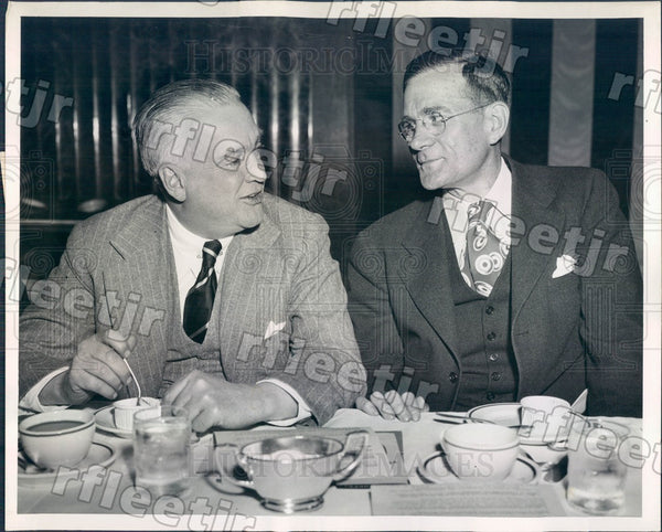 1945 Chicago Sun Publisher Marshall Field & Aubrey Williams Press Photo adv537 - Historic Images
