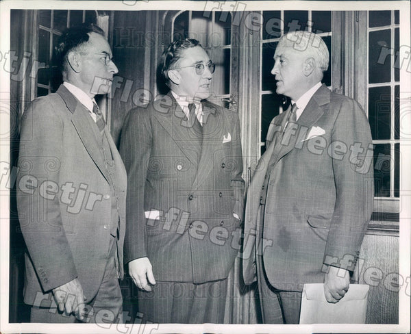 1943 Chicago Sun Publisher Marshall Field, H Clark Bailey Press Photo adv543 - Historic Images