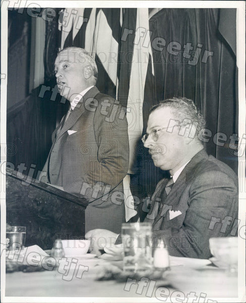 1942 Chicago Sun Publisher Marshall Field & Louis Zara Press Photo adv557 - Historic Images