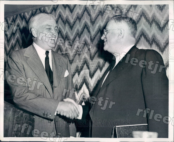 1946 Chicago Sun Publisher Marshall Field & Harold Ickes Press Photo adv567 - Historic Images