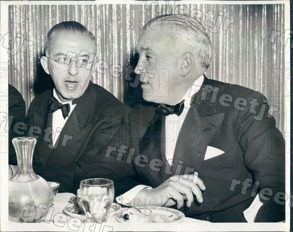 1942 Chicago Sun Publisher Marshall Field & Edgar Bernhard Press Photo adv575 - Historic Images