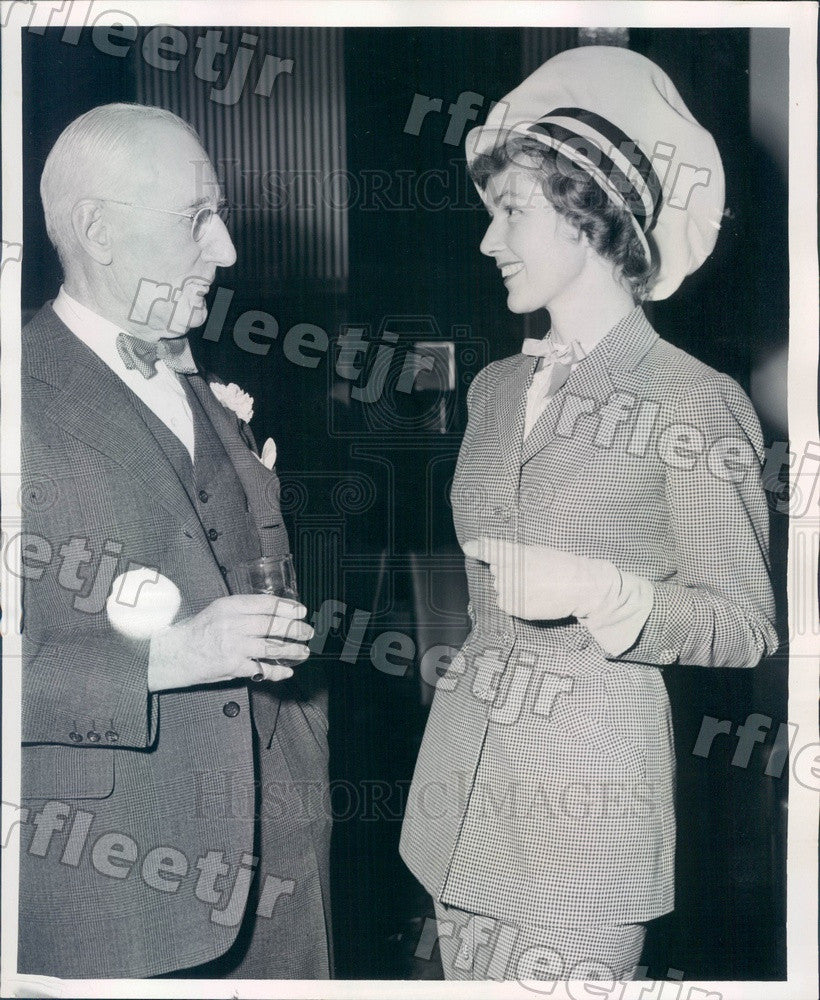 1952 Chicago, Illinois Marshall Field Exec Stanley Field Press Photo adv589 - Historic Images