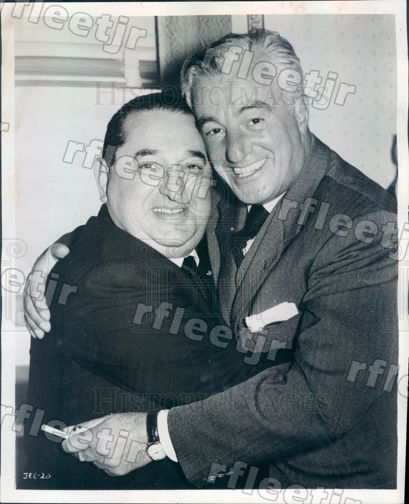1966 Film Producer Joseph E Levine & Dir Vittorio De Sica Press Photo adv69 - Historic Images