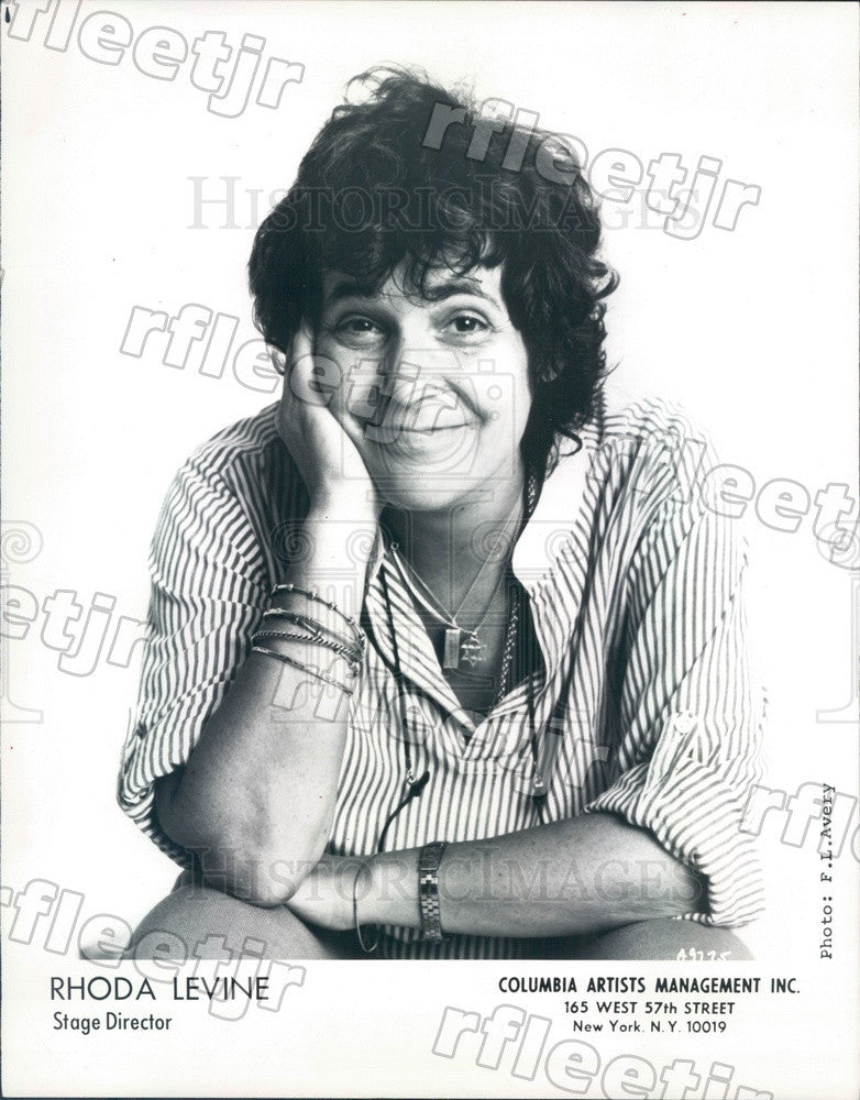 1988 Opera Director, Choreographer Rhoda Levine Press Photo adv77 - Historic Images