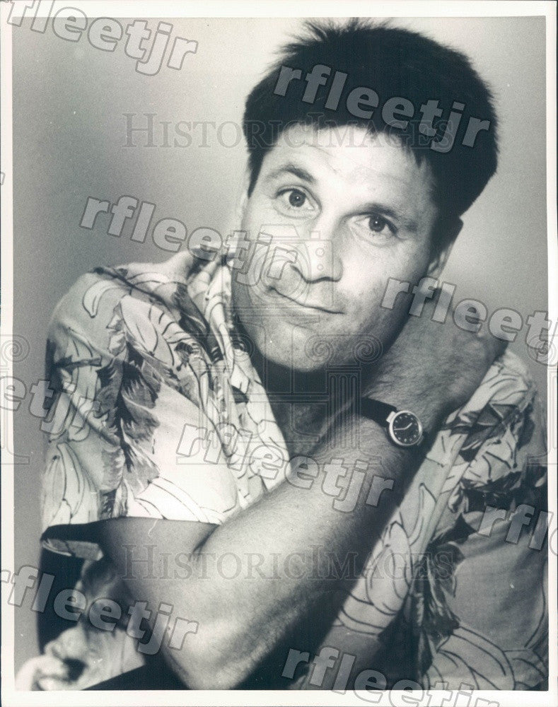 1987 American Actor Terence Knox Press Photo adv87 - Historic Images