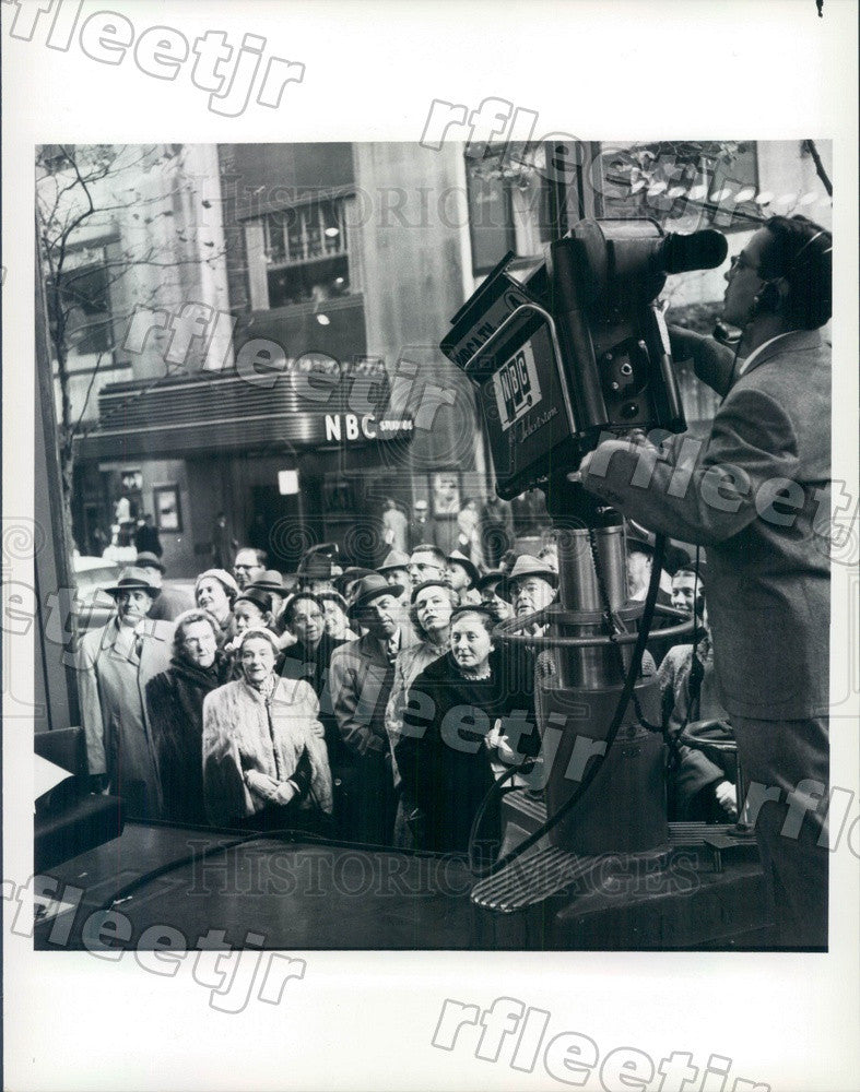 1986 NBC Today Show Filming in New York City in 1955 Press Photo adw1001 - Historic Images