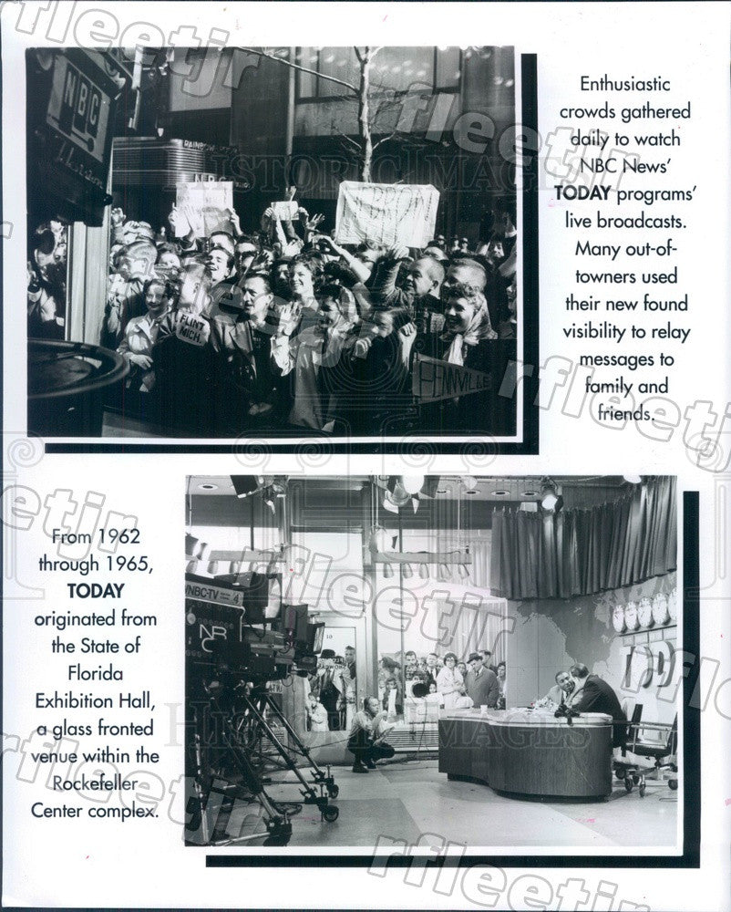 Undated NBC Today Show Crowd, Florida Exhibition Hall Press Photo adw1007 - Historic Images