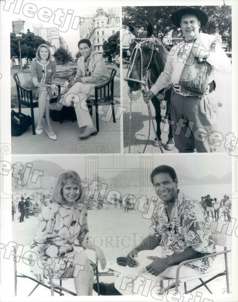 1986 NBC Today Show Anchors Jane Pauley, Bryant Gumbel Press Photo adw1015 - Historic Images