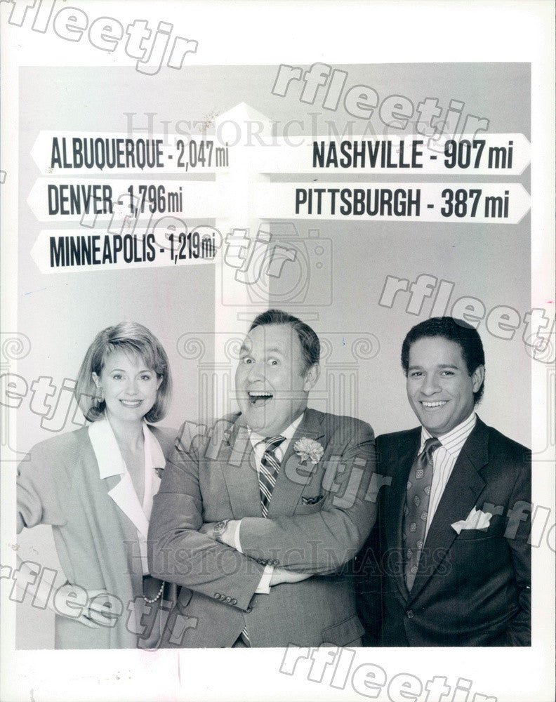 1987 NBC Today Show Anchors Jane Pauley, Bryant Gumbel Press Photo adw1019 - Historic Images