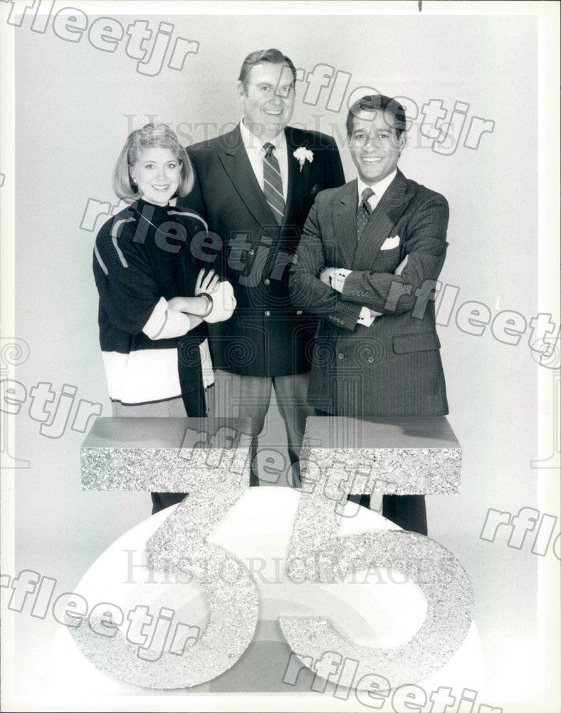 1986 NBC Today Show Anchors Jane Pauley, Bryant Gumbel Press Photo adw1027 - Historic Images