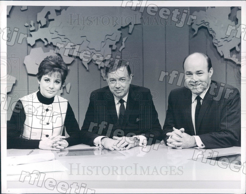Undated NBC Today Show Hosts Hugh Downs, Barbara Walters Press Photo adw1029 - Historic Images