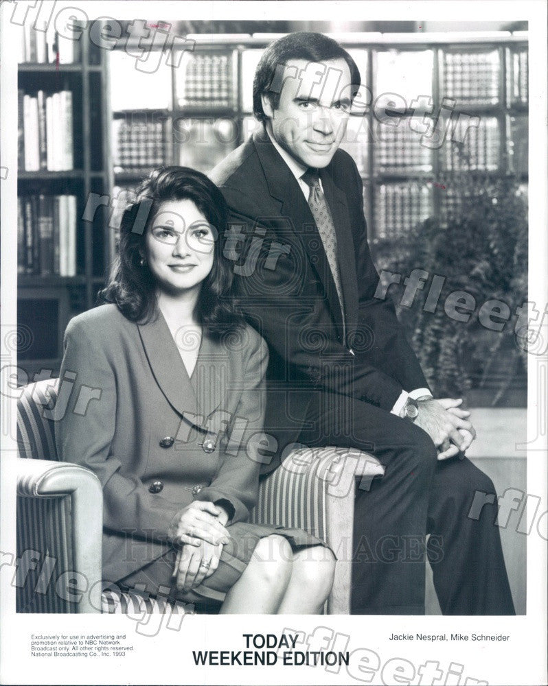 1993 NBC Today Show Weekend Edition Hosts Jackie Nespral Press Photo adw1039 - Historic Images