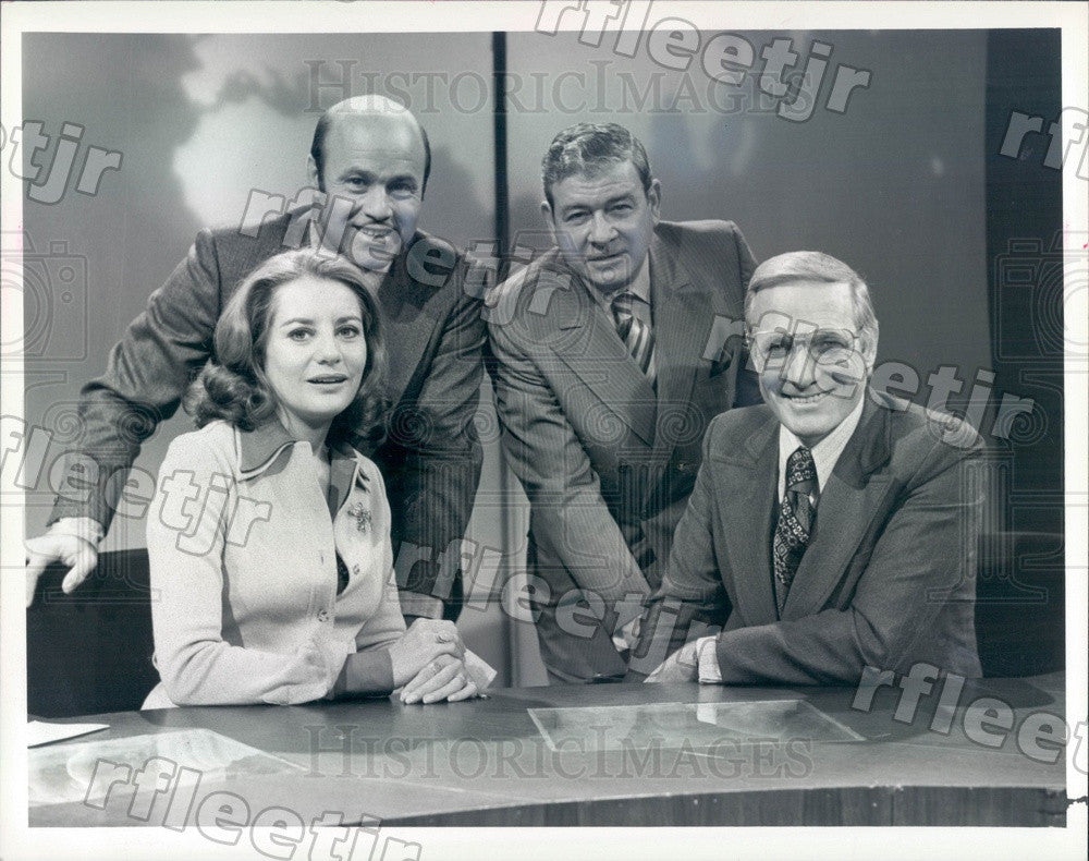 1986 NBC Today Show Hosts Barbara Walters, Joe Garagiola Press Photo adw1041 - Historic Images