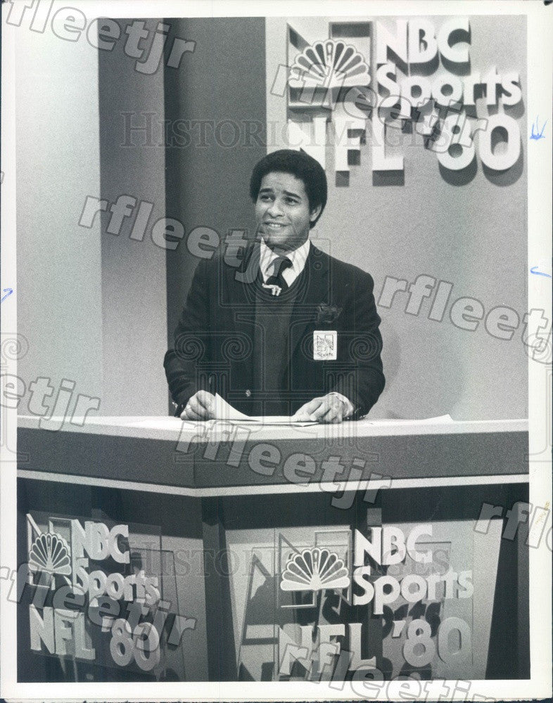 1980 NBC Today Show Host Bryant Gumbel Press Photo adw1045 - Historic Images
