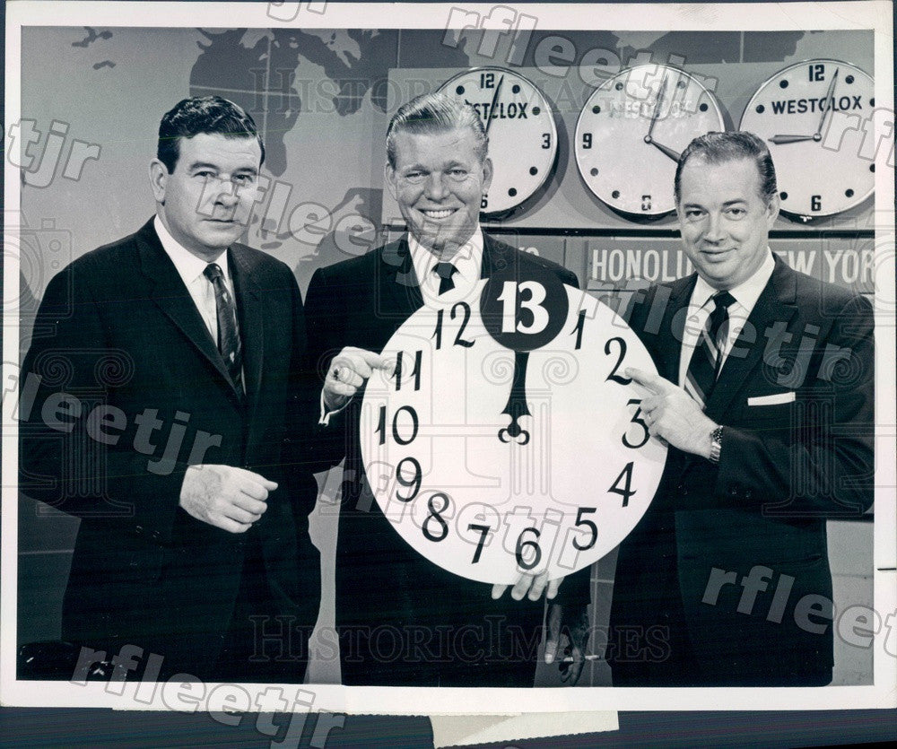 1964 NBC Today Show Hosts Hugh Downs, Frank Blair, Jack Press Photo adw1057 - Historic Images