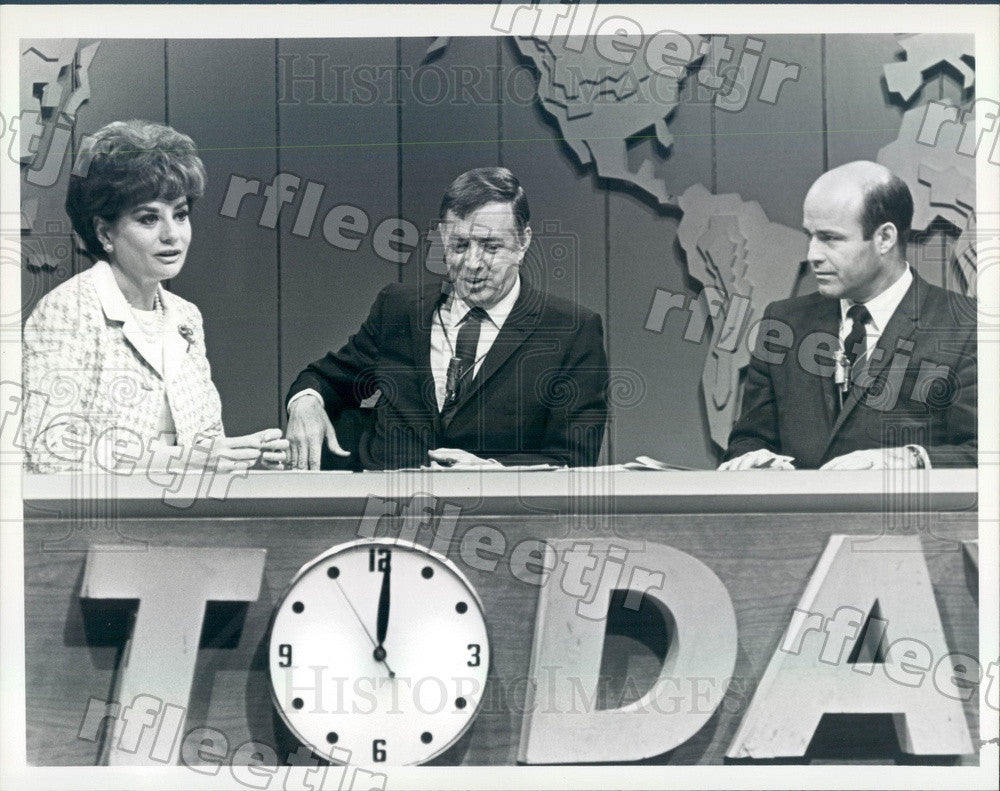 1986 NBC Today Show Hosts Barbara Walters, Hugh Downs, Joe Press Photo adw1063 - Historic Images