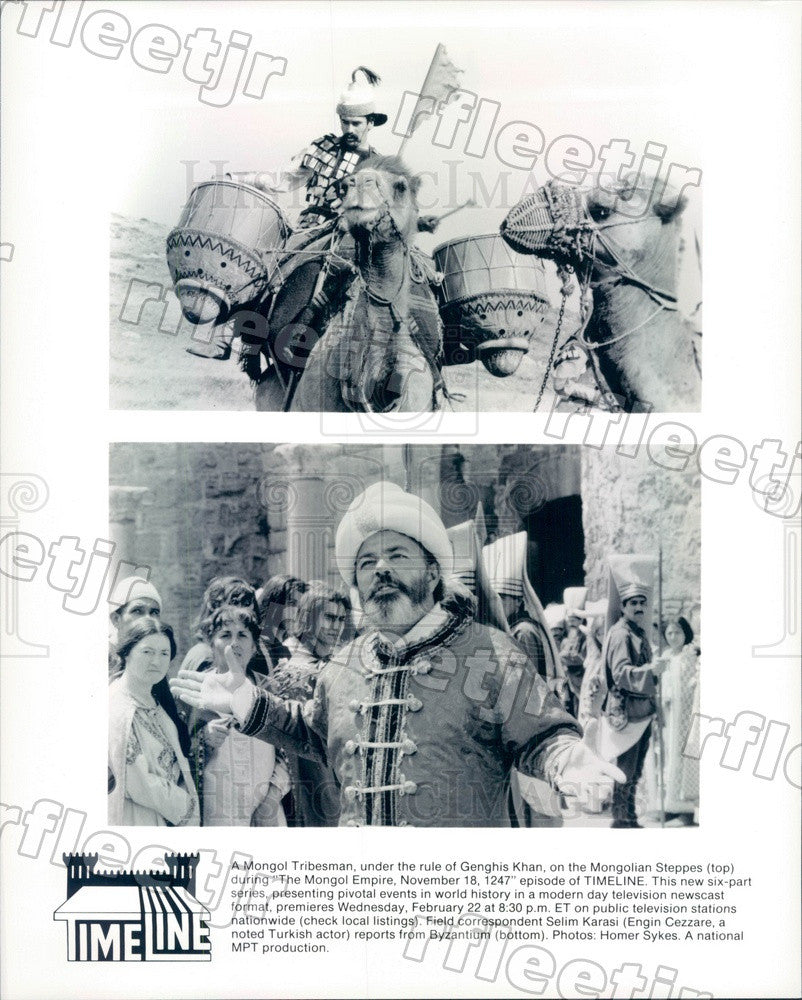 Undated Turkish Actor Engin Cezzare & Mongolian Tribesman Press Photo adw1065 - Historic Images