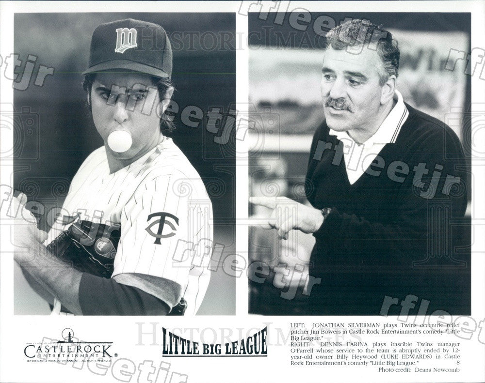 1994 Actors Jonathan Silverman & Dennis Farina in Film Press Photo adw1075 - Historic Images