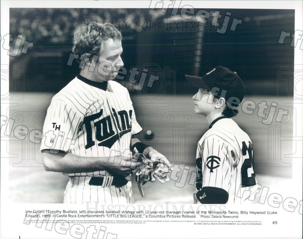 1994 Actors Timothy Busfield & Luke Edwards in Film Press Photo adw1079 - Historic Images