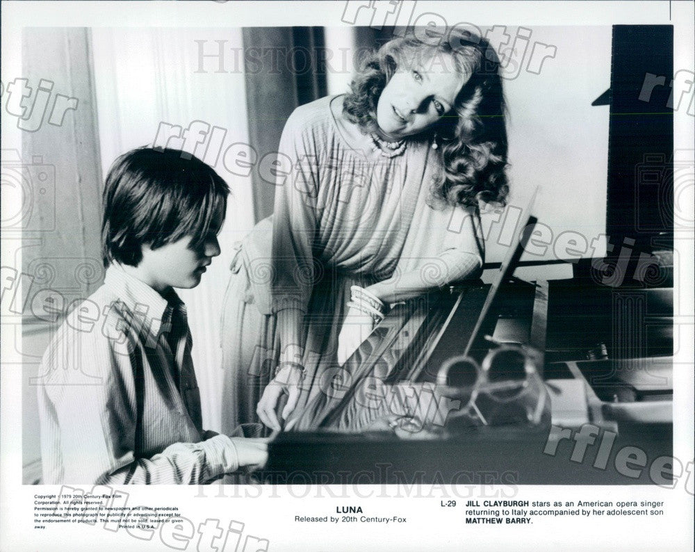 1979 Actors Jill Clayburgh & Matthew Barry in Film Luna Press Photo adw1089 - Historic Images