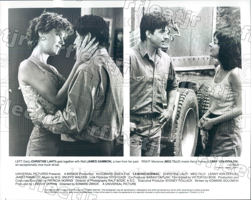 1992 Actors Christine Lahti, James Gammon, Meg Tilly Press Photo adw1103 - Historic Images