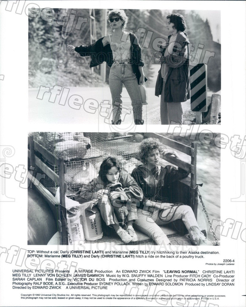 1992 Actors Christine Lahti & Meg Tilly in Leaving Normal Press Photo adw1107 - Historic Images