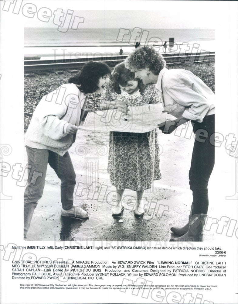 1992 Actors Christine Lahti, Meg Tilly, Patrika Darbo Press Photo adw1109 - Historic Images