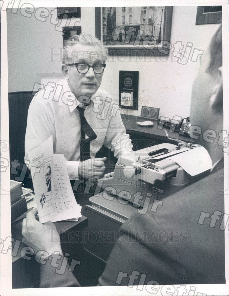 1969 St Petersburg FL Times Bridge Columnist Alfred Sheinwold Press Photo adw111 - Historic Images
