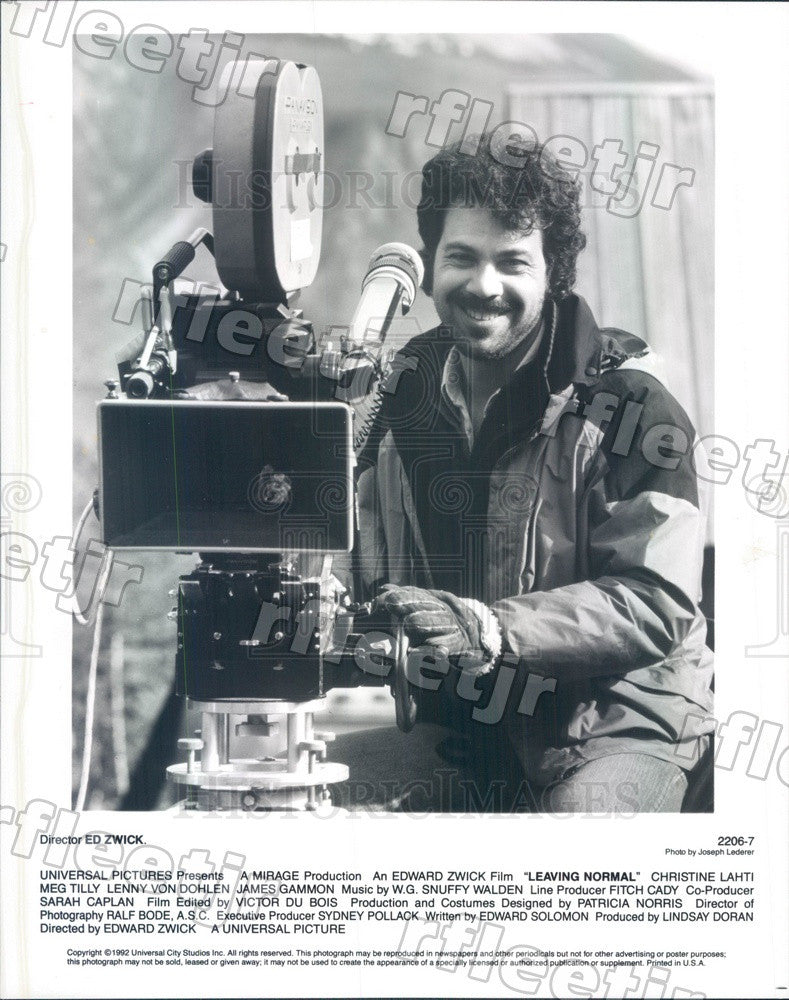 1992 Director Ed Zwick Filming Leaving Normal Press Photo adw1111 - Historic Images