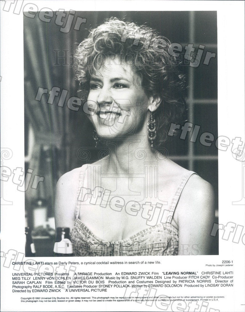 1992 Oscar Winning Actor Christine Lahti in Leaving Normal Press Photo adw1113 - Historic Images