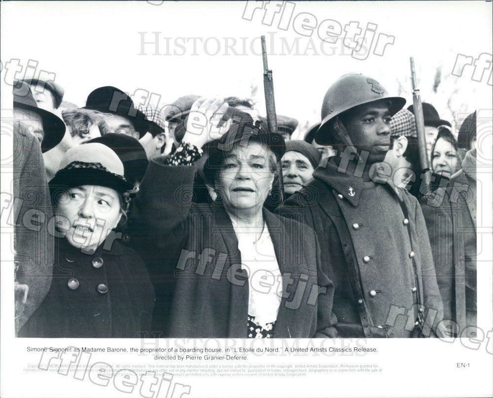 1983 Oscar Winning French Actress Simone Signoret in Film Press Photo adw1157 - Historic Images