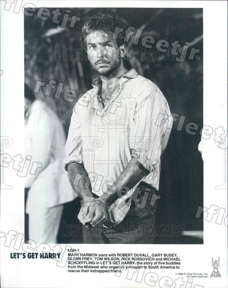 1986 Actor Mark Harmon in Film Let's Get Harry Press Photo adw1159 - Historic Images