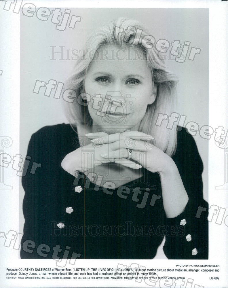 1990 Producer Courtney Sale Ross of Film Listen Up Press Photo adw1173 - Historic Images