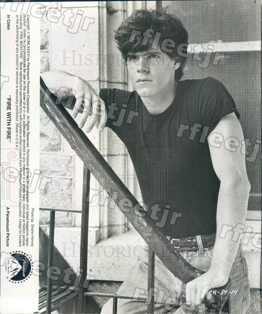 1986 American Actor Craig Sheffer in Film Fire With Fire Press Photo adw127 - Historic Images