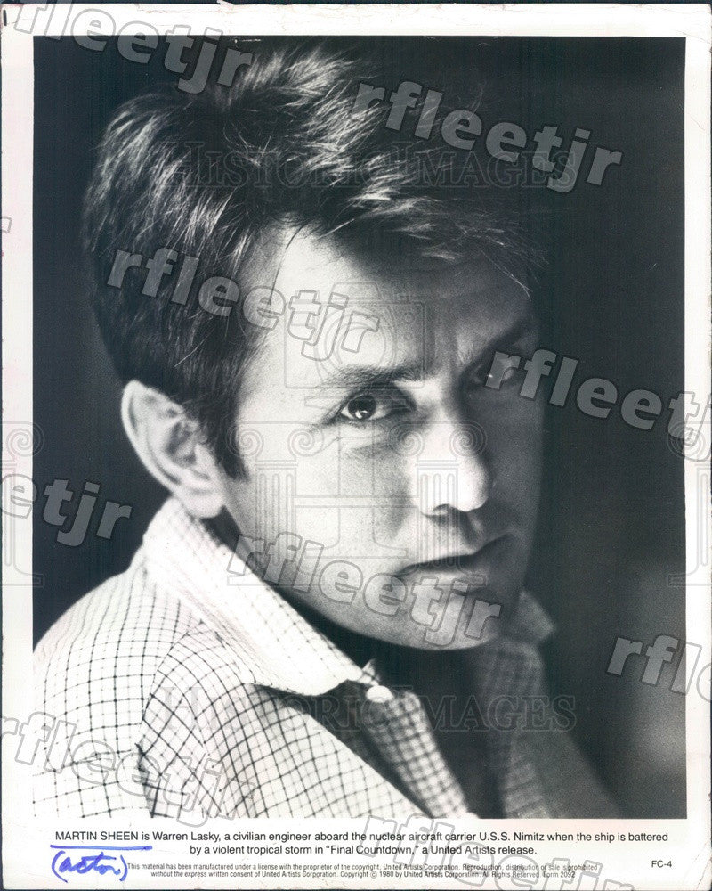 1980 Emmy Winning Actor Martin Sheen in Film Final Countdown Press Photo adw155 - Historic Images