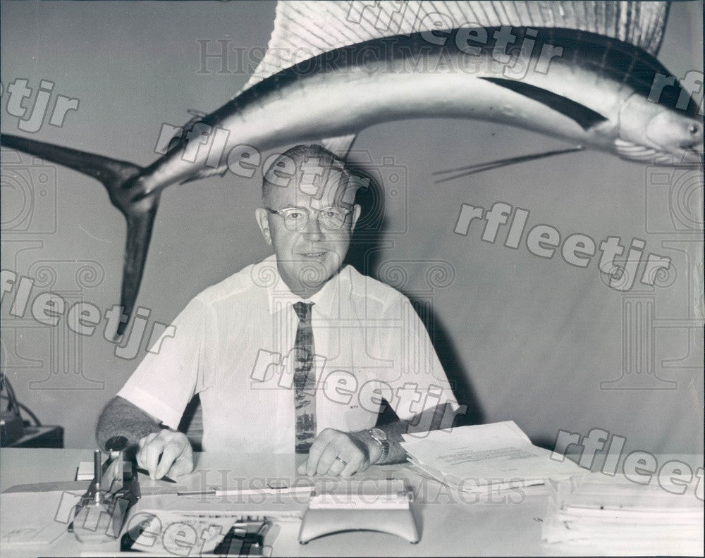 1964 St. Petersburg, Florida Robert Sheen of Milton Roy Co Press Photo adw193 - Historic Images