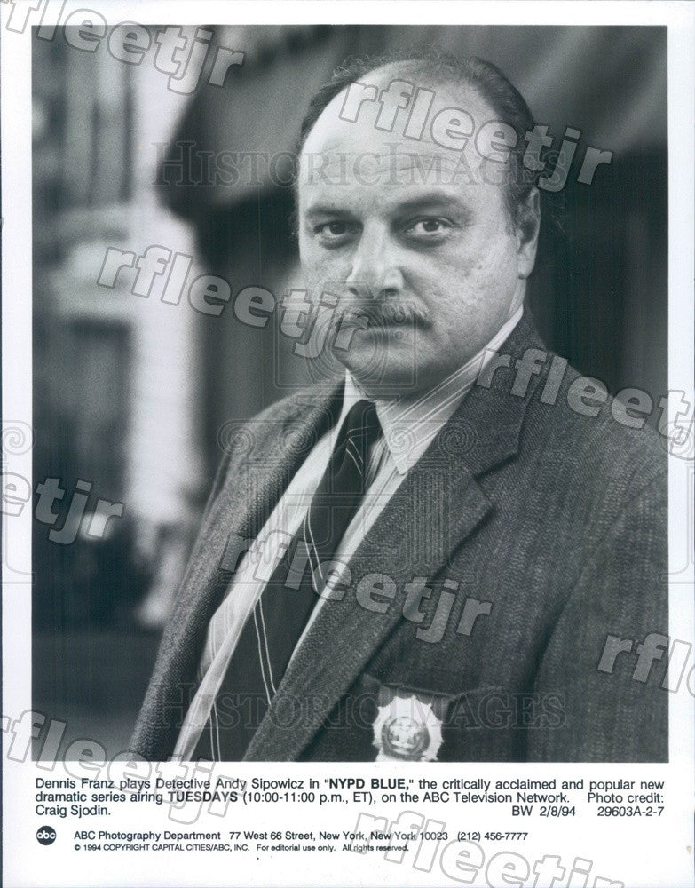 1994 Actor Dennis Franz on TV Show NYPD Blue Press Photo adw207 - Historic Images